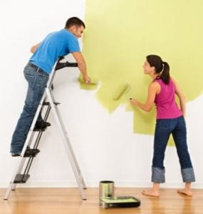 mf couple painting wall